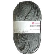 Пряжа Носочная шерсть, 100 г / 200 м, 096 серый меланж