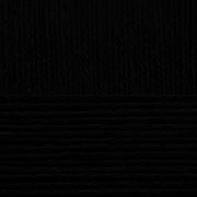 Пряжа Детский каприз, 50 г / 225 м, 002 черный
