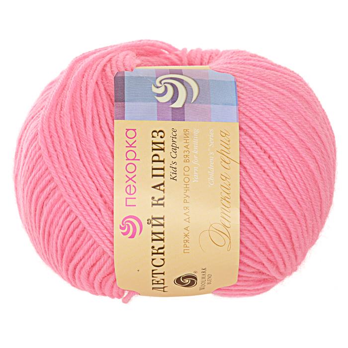 Пряжа Детский каприз, 50 г / 225 м, 011 ярко-розовый