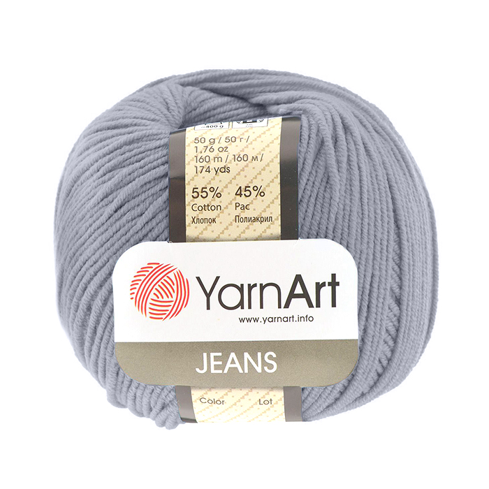Пряжа Джинс (YarnArt Jeans), 50 г / 160 м, 28 темно-серый