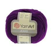 Пряжа Джинс (YarnArt Jeans), 50 г / 160 м, 50 фиолетовый