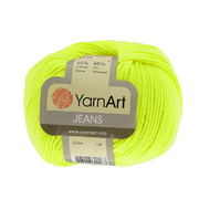 Пряжа Джинс (YarnArt Jeans), 50 г / 160 м, 58 лимон