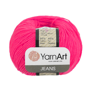 Пряжа Джинс (YarnArt Jeans), 50 г / 160 м, 59 малиновый