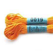 Мулине х/б 8 м Гамма, 0019 св.-оранжевый