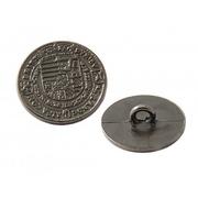 Пуговицы мет.на ножке 17мм 64564 «печать» т.никель