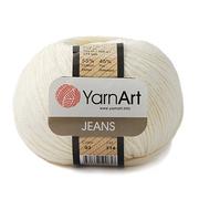 Пряжа Джинс (YarnArt Jeans), 50 г / 160 м, 03 кремовый