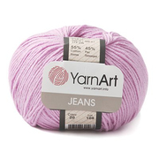 Пряжа Джинс (YarnArt Jeans), 50 г / 160 м, 20 розовый