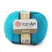 Пряжа Джинс (YarnArt Jeans), 50 г / 160 м, 55 бирюзовый