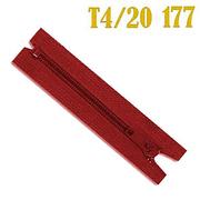 Молния Т4 спираль брючн. п/авт. 18 см 148 красный