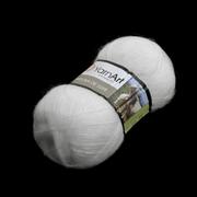 Пряжа Ангора де люкс (Angora De Luxe), 100 г/ 520 м, 00501 белый