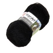 Пряжа Ангора де люкс (Angora De Luxe), 100 г/ 520 м, 00585 черный