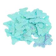 Пайетки «фигурки» Астра бабочка 23*18 мм (уп. 10 г) 17 св.-бирюзовый