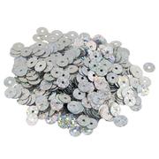 Пайетки Астра круглые 6 мм (уп. 10 г) плоские голограмма 50112 серебро