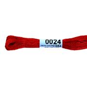 Мулине х/б 8 м Гамма, 0024 красный