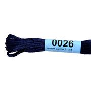 Мулине х/б 8 м Гамма, 0026 т.-синий