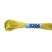 Мулине х/б 8 м Гамма, 0206 желтый