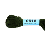 Мулине х/б 8 м Гамма, 0616 т. хаки