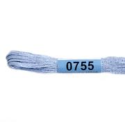 Мулине х/б 8 м Гамма, 0755 серо-голубой