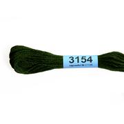 Мулине х/б 8 м Гамма, 3154 зеленый хаки