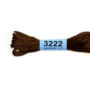 Мулине х/б 8 м Гамма, 3222 коричневый