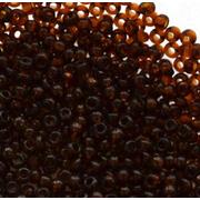 Бисер Preciosa Чехия (уп. 50 г) 10140 т.-коричневый прозрачный