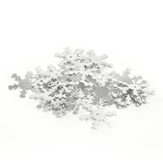Пайетки «фигурки» Астра снежинки 25 мм (уп. 10 г) 01 серебро