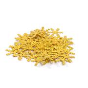 Пайетки «фигурки» Астра снежинки 25 мм (уп. 10 г) A20 золото