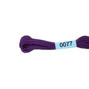 Мулине х/б 8 м Гамма, 0077 фиолетовый
