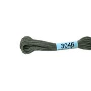 Мулине х/б 8 м Гамма, 3046 серый