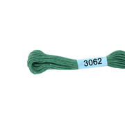 Мулине х/б 8 м Гамма, 3062 зеленый