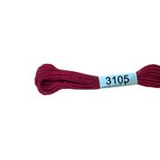 Мулине х/б 8 м Гамма, 3105 т.-малиновый