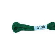 Мулине х/б 8 м Гамма, 3138 зеленый
