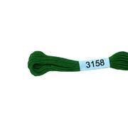 Мулине х/б 8 м Гамма, 3158 ярко-зеленый