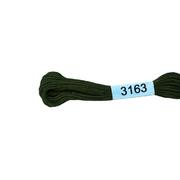 Мулине х/б 8 м Гамма, 3163 коричневый хаки