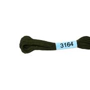 Мулине х/б 8 м Гамма, 3164 т.-коричневый хаки