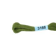 Мулине х/б 8 м Гамма, 3168 бл.-зеленый