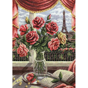 Набор для вышивания Panna Н-1291 «Окно в Париж» 25*33 см