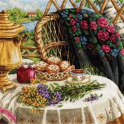 Набор для вышивания Panna Н-1488 «Летний натюрморт» 32*32 см