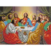 Ткань с рисунком для вышивания бисером «Славяночка КС-067 Тайная вечеря» 36*53 см