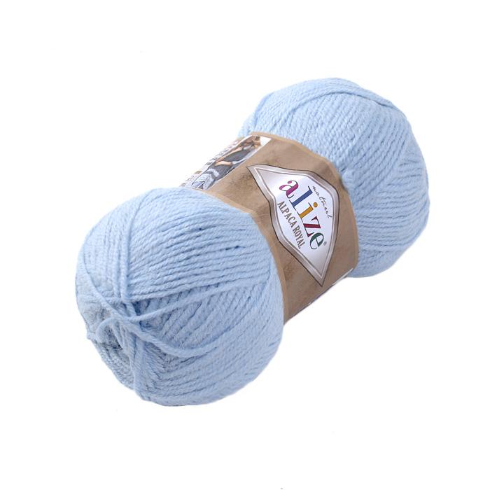 Пряжа Альпака роял (Alpaca Royal), 100 г / 250 м, 356 св.-голубой