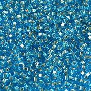 Бисер Preciosa Чехия 10-14гр. 67010 голубой с серебром
