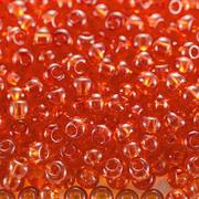 Бисер Preciosa Чехия 10-14гр. 90030 т. оранжевый прозрачн.