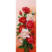 Набор для вышивания бисером МК Б-292 «Вдохновение Розы» 25*61 см