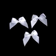 Бант пришивной JY100044 3,3 см белый
