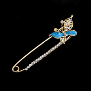 Брошь BR 617 «Булавка-бабочка» синий