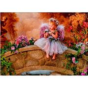 Ткань для вышивания бисером «Русская сказка ПЛ-020 Ангел на мосту» 32*23,5 см