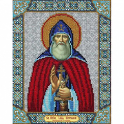 Набор для вышивания бисером Паутинка Б-1070 «Св. Илья Муромец» 20*25 см