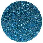 Бисер Астра (уп. 20 г) №0023В голубой с серебр. центром