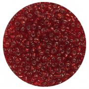 Астра бисер (уп. 20 г) №0025В т.-красный с серебр. центром