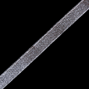 Тесьма металл. 12 мм С (уп. 27 м)  серебро